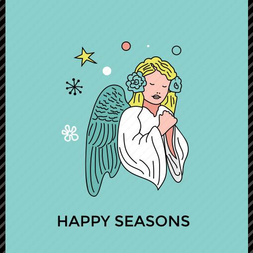 angel, christmas fairy, fairy, fairy angel, peace symbol icon