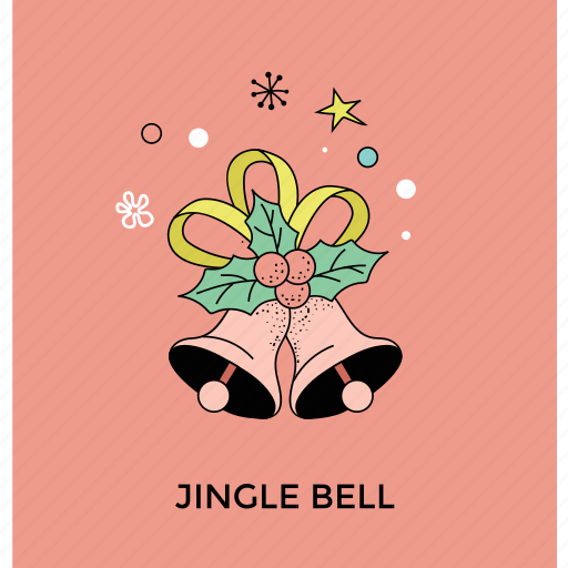 bell with mistletoe, christmas bell, decorative christmas bell, holley and bell, jingle bell icon
