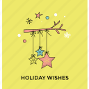 christmas card, christmas star, decorative element, holiday wishes, star decoration icon