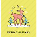cartoon deer, christmas character, christmas deer, funny deer icon