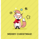 animal cartoon, christmas cat, christmas costume, christmas dress, merry christmas icon