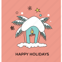 christmas celebration, christmas decoration, greeting card, happy holiday, winter theme icon