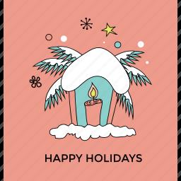 christmas celebration, christmas decoration, greeting card, happy holiday, winter theme icon