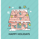 christmas concept, christmas lighting, happy holiday, holiday celebration, home decoration icon