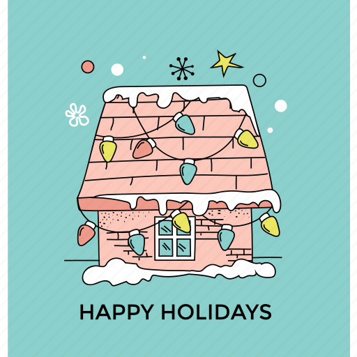 christmas concept, christmas lighting, happy holiday, holiday celebration, home decoration icon
