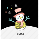 cartoon snowman, mantle of snow, snow sculpture, snowman, snowman character icon