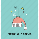 christmas accessory, christmas hat, hat, santa cap, santa hat icon