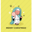 christmas greeting, greeting card, merry christmas, postcard icon