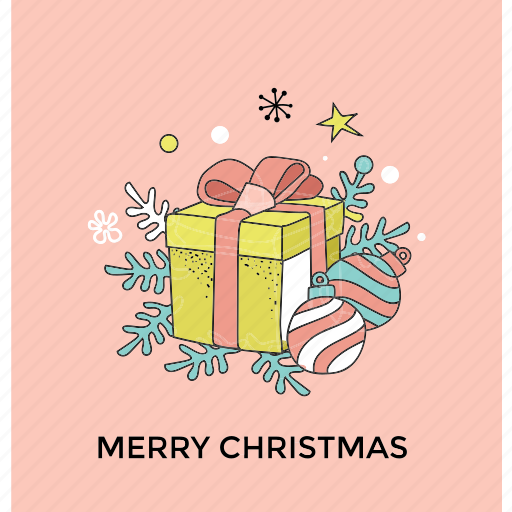 birthday gift, christmas present, gift box, party gift, wrapped gift icon