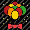 balloon, bow, bow tie, xmas icon