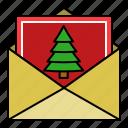 celebration, christmas card, letter, mail, xmas icon