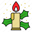 candle, fire, light, xmas icon