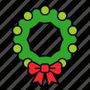 decoration, ornament, wreath, xmas