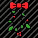 decoration, holly, ornament, xmas icon