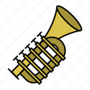 brass instruments, music instrument, trumpet, xmas icon