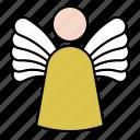 angel, fairy, wing, xmas