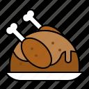food, roast chicken, turkey, xmas icon