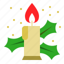 candle, fire, light, merry, xmas icon
