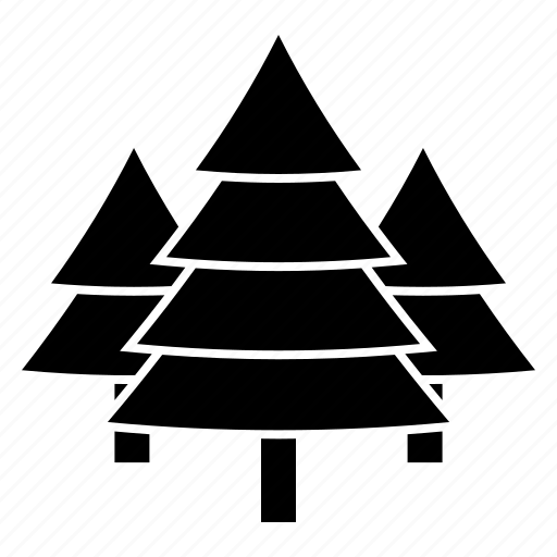 christmas, nature, pine, tree icon
