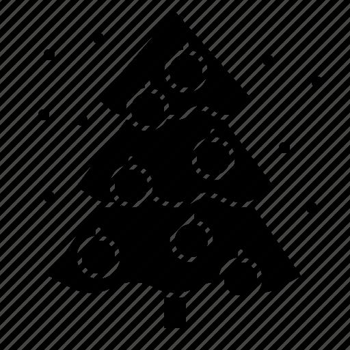 christmas, decoration, pine, tree icon