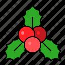 christmas, decoraton, holly, ornament, xmas