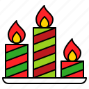 candle, christmas, fire, light, xmas
