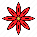 christmas, flora, floral, flower, xmas icon