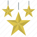 christmas, decoration, hanging, star, xmas