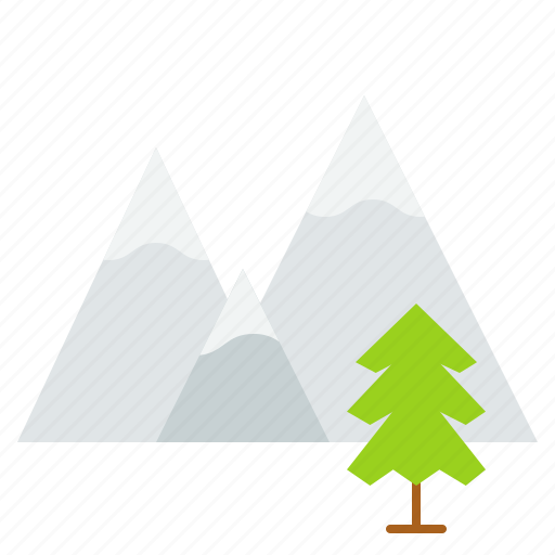 christmas, mountain, pine, winner, xmas icon