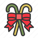 candy cane, christmas, ornament, ribbon, xmas