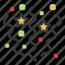 cerebration, christmas, confetti, ornament, party, xmas icon