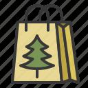 bag, christmas, ornament, shopping bag, xmas icon
