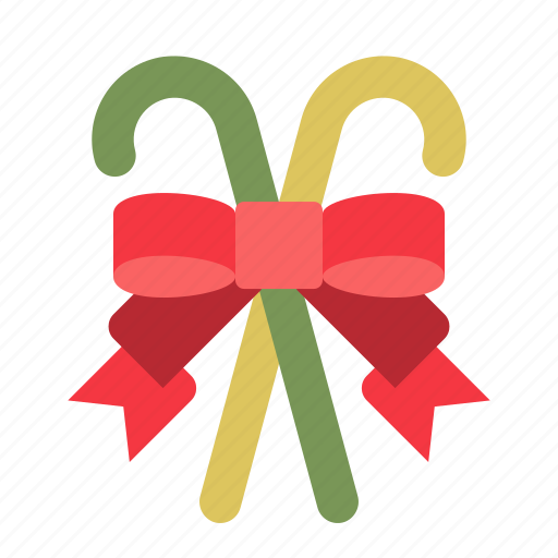 candy cane, christmas, ornament, ribbon, xmas icon