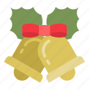 bell, christmas, ornament, ringing, xmas