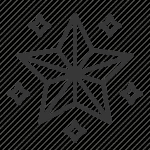 christmas, ornament, star, tree topper, xmas icon