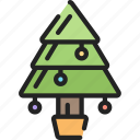 christmas, december, holidays, tradition, tree icon