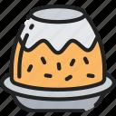 christmas, december, food, holidays, pudding icon