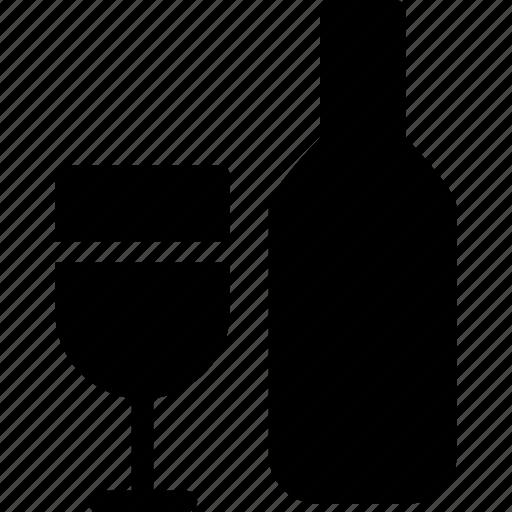 alcohol, celebration, wine, wine bottle, wine bottle and glass icon