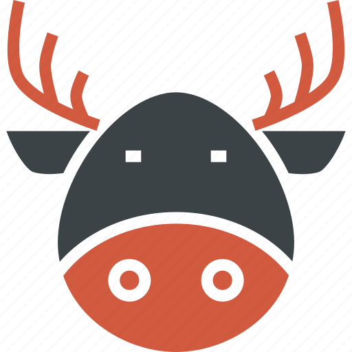 Christmas, claus, deer, new year, rein, santa, rudolph icon - Download on Iconfinder