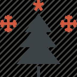 celebration, christmas, decoration, holiday, snowflake, star, tree icon