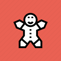 bake, celebration, christmas, cookie, gingerbread, man, new year icon