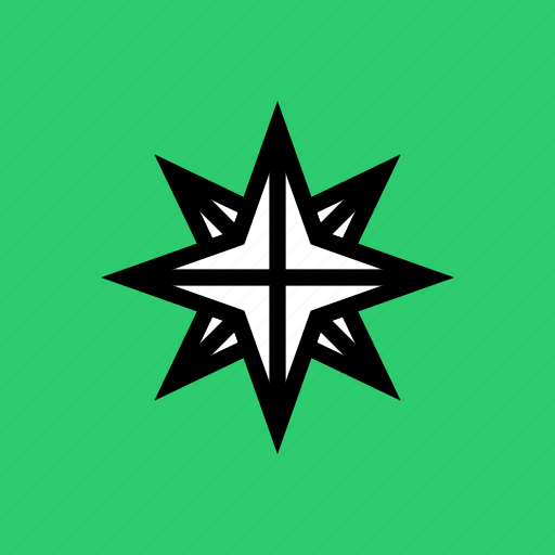 bright, christmas, northern, pole, shine, star, twinkle icon