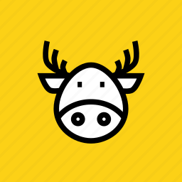 christmas, claus, deer, rein, rudolph, santa, winter icon