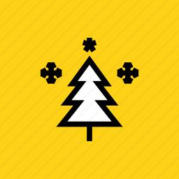 celebration, christmas, decoration, new year, star, tree, winter icon