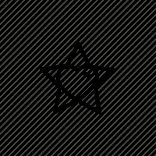 christmas, decoration, heart, lightning, star, xmas icon