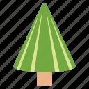 coniferous tree, fir tree, nature, pine tree, poplar tree icon