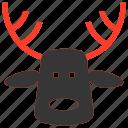 christmas, claus, dear, deer, santa, xmas icon