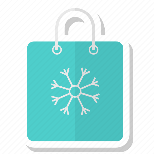 bag, christmas, ecommers, paper, shopping, snow icon