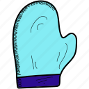 christmas, cold, glove, winter icon