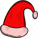 cap, santa hat, santa, hat, christmas